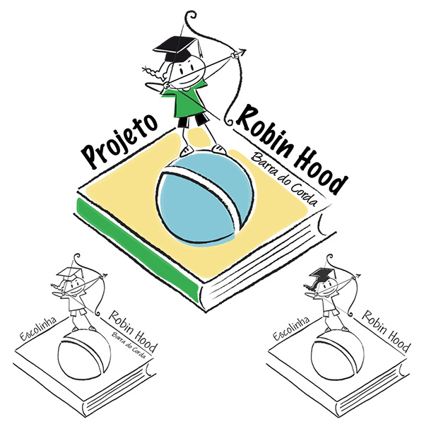 school Brasil logo tshirt Education Association kids maranhão Brazil robinhood