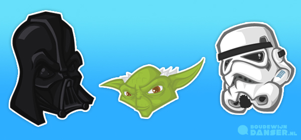 Star wars sticker set on behance