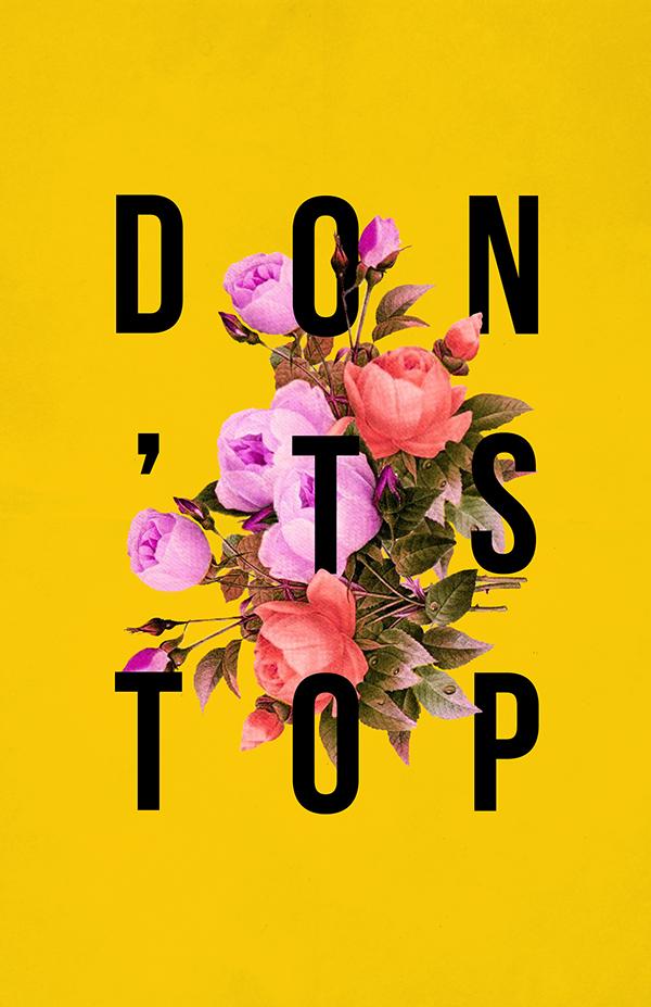 bagfry, motivational poster project, art, florals, Thrifty Finn