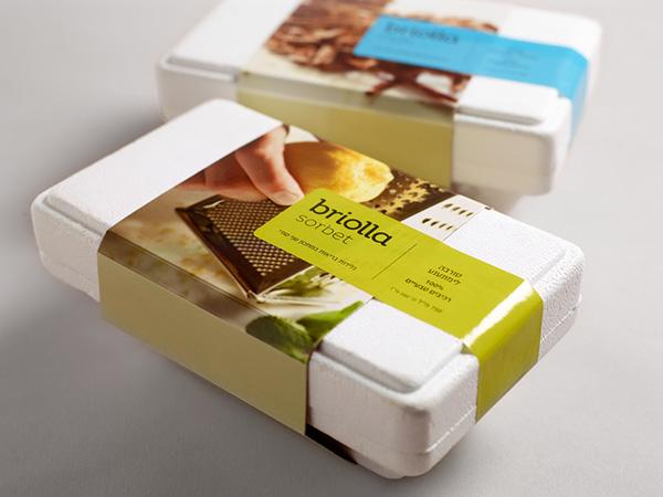 ice cream Briolla Dov Kroll israeli designer דב קרול עיצוב גרפי  עיצוג לוגו עיצוב אריזה packaging design Logo Design boutique 4C4C4C