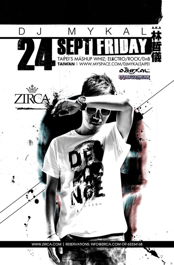 poster dj MYKAL taiwan ZIRCA club CANNERY
