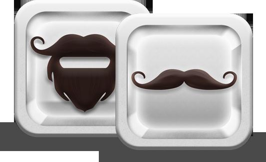 beard  face   smile  mustache funny ios Icon design dribbble