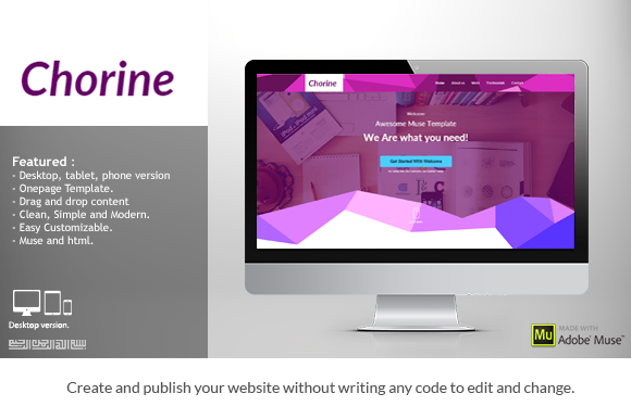 Free - Chorine Creative Muse Template on Behance