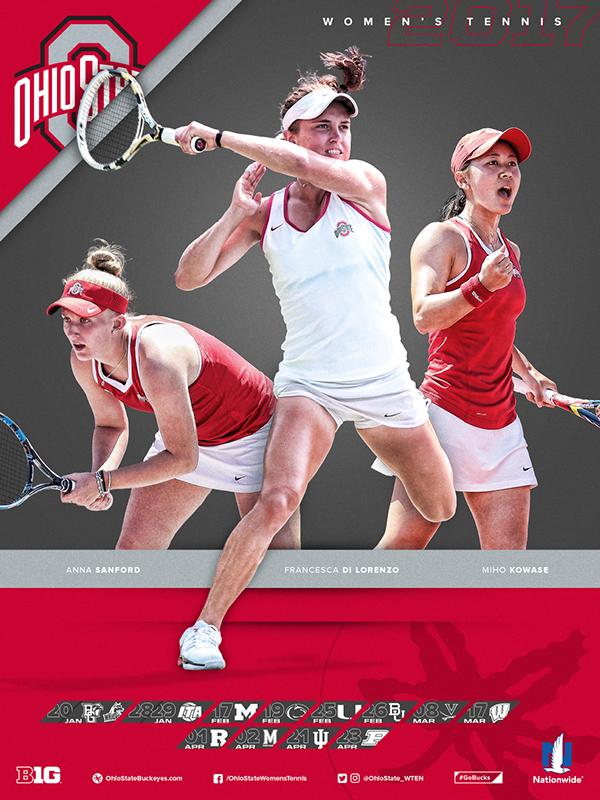 Ohio State Women's Tennis Schedule Poster 2017 on Behance