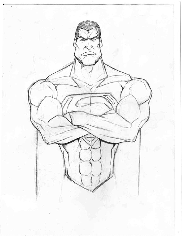 Superman Pencil Drawings kc Supes Pencil Drawing