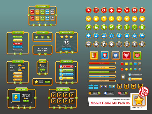Mobile Game GUI Pack 06 on Behance