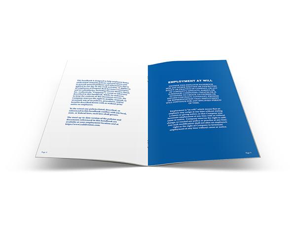 employee handbook design on behance