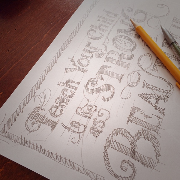 letterpress vintage typography card design vandercook print