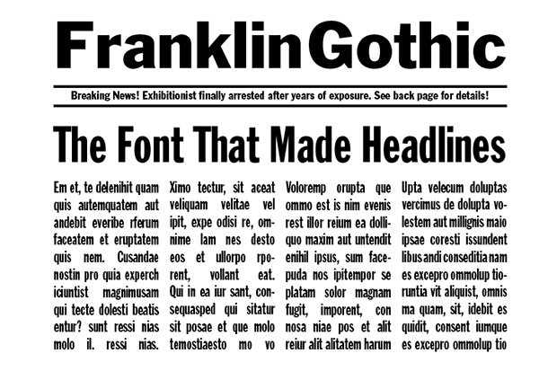 Franklin Gothic Font – Quotes of the Day