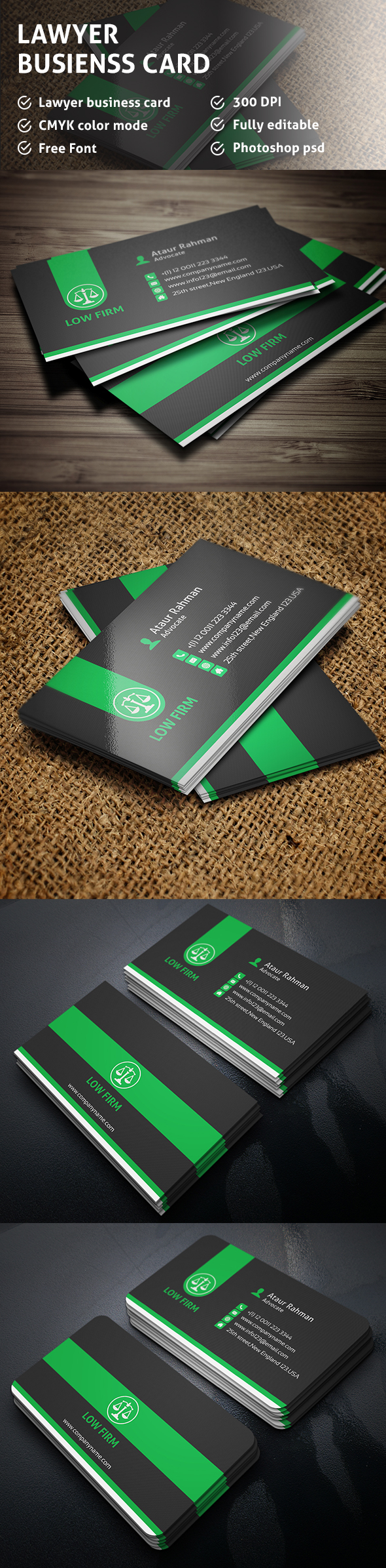 Free Lawyer Business Card on Behance