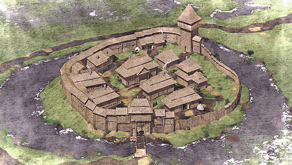 559ad77b89 3D reconstruction of the Vyzhva castle on Student Show