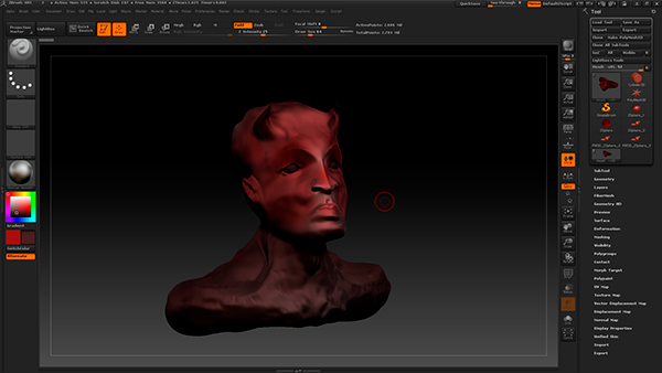 Work in ZBrush on Student Show