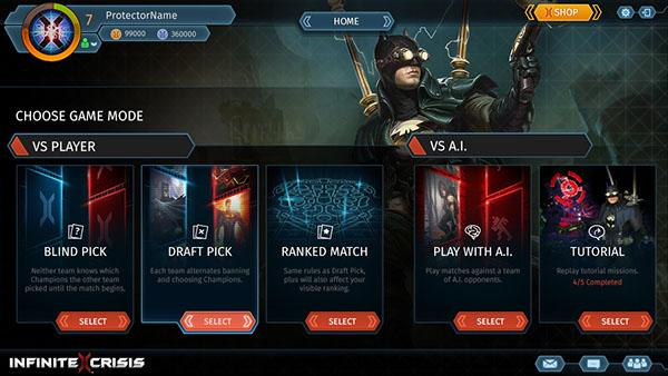 Infinite Crisis InGame UI Design On Behance - Game ui design