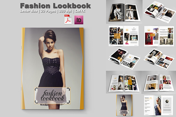 fashion lookbook template 20 pages on behance. Black Bedroom Furniture Sets. Home Design Ideas