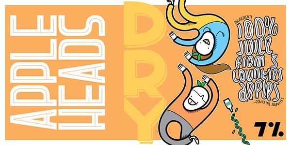 Label artwork cider beer design characters logo font fonts