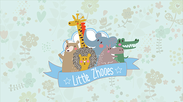 brand identity zoo shoes cloth baby child kids creative