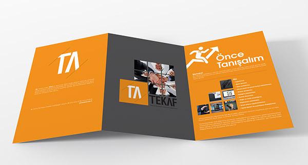 two fold brochure design on behance