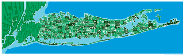Long Island Type Map on Behance