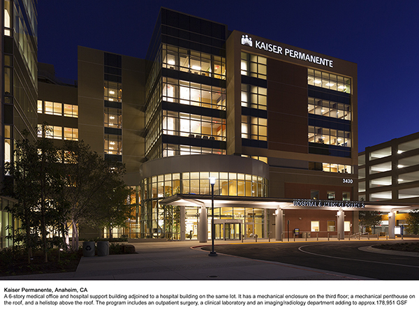 Kaiser Permanente Hospital Support Building Anaheim Ca On