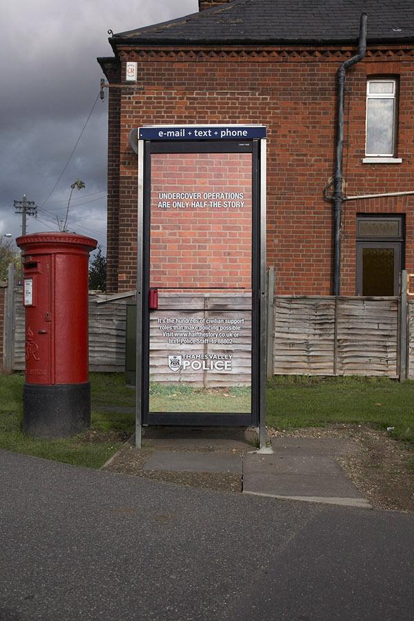 police outdoor advertising undercover phonebox Street recruitment