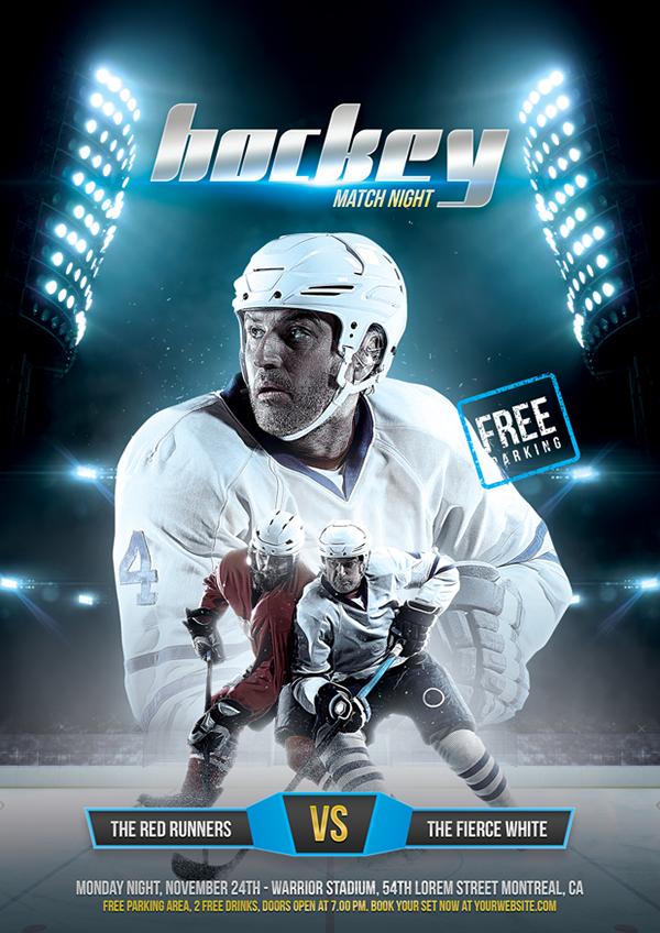 Hockey Match Flyer On Student Show