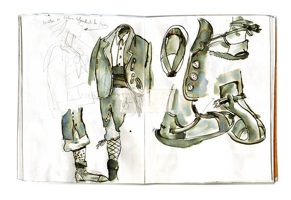 ilustracion vestuario