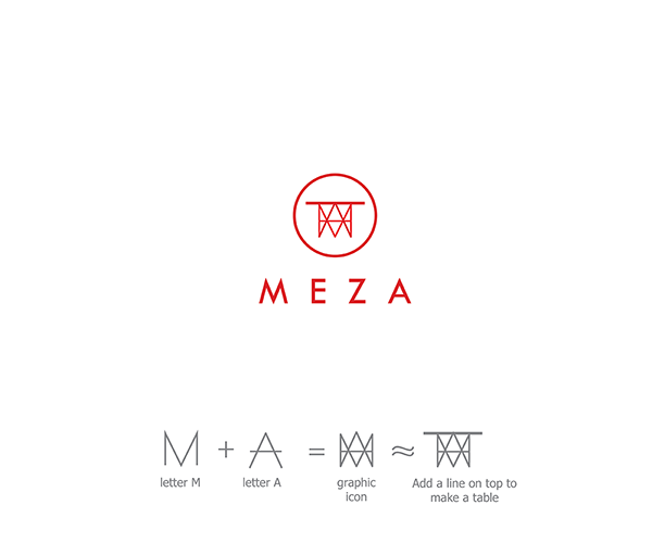 meza logo design on behance