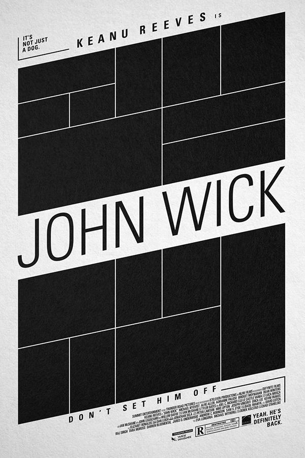 john wick poster on behance