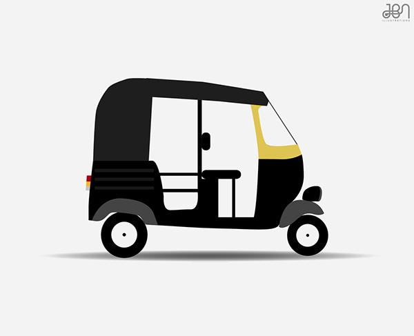 Auto Rikshaw Series on Pantone Canvas Gallery