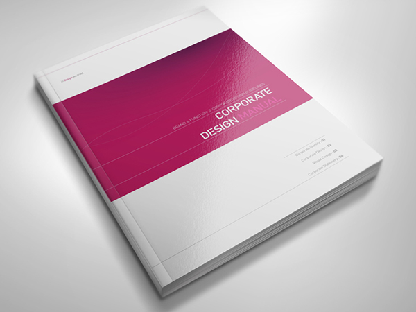 Corporate Book Cover Design Inspiration : Corporate design manual guide pages on behance