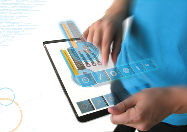 tablet Interface graphic future conceptual