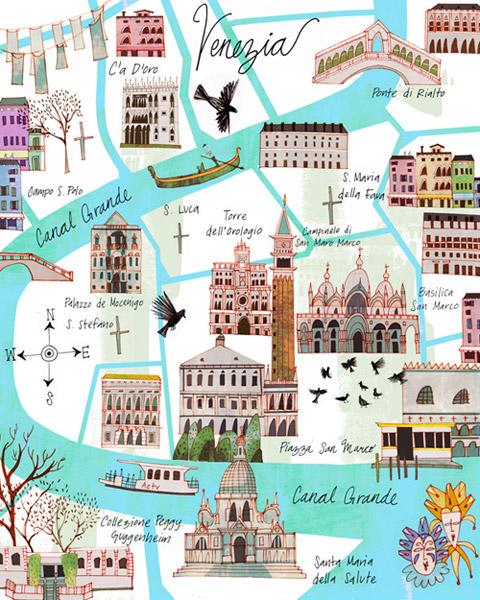 Paris  venice maps Travel