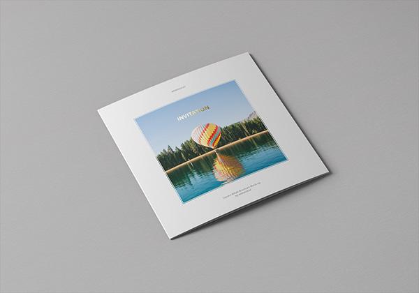 Пожеланиями спокойной, мокап квадратные открытки