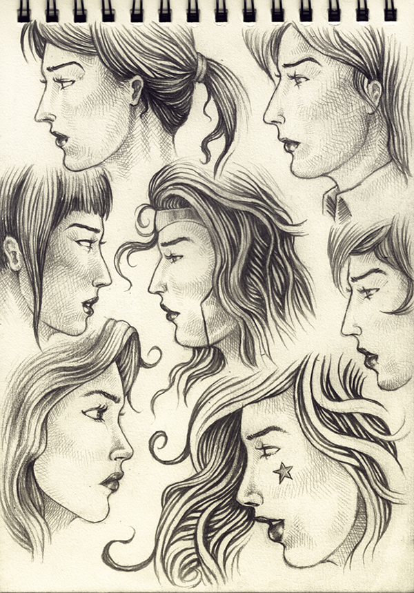 Female Faces Side View On Behance