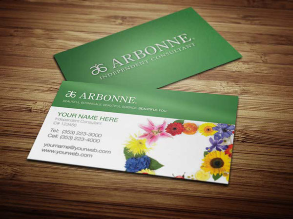 Arbonne Business Cards on Behance