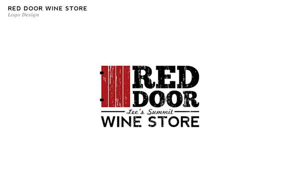 Red Door Wine Store On Behance