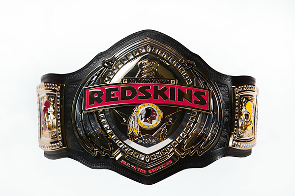 washington redskins championship belt on behance