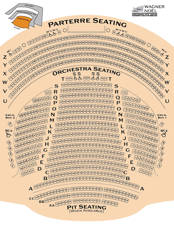 Seating Charts for Wagner Noël Performing Arts Center on ...