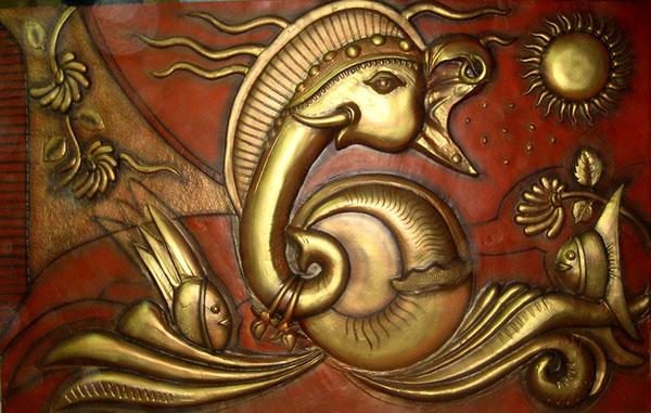 Ganesh mural d sign 9880444447 on behance for Mural ganesha