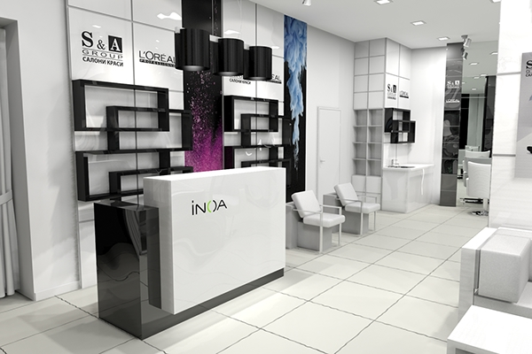 S a group beauty salon interior design on behance for Beauty parlour interior designs