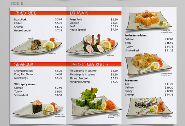 Tri fold sushi menu template on behance more detailsdownload pronofoot35fo Choice Image