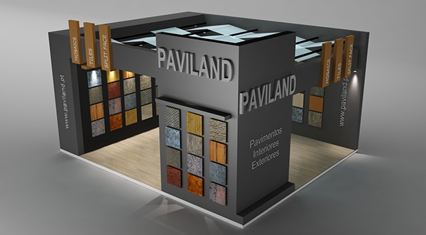 Exhibition Stand Vray : Paviland exhibition stand made in d max and vray on behance