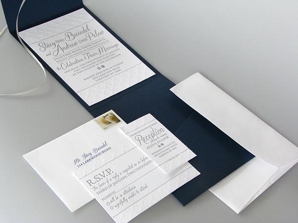 Winter Themed Wedding Invitations: Letterpress Winter Themed Wedding Invitation On Behance