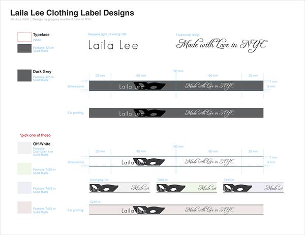 gregory mueller gregory mueller Laila LailaLee clothing tag Label