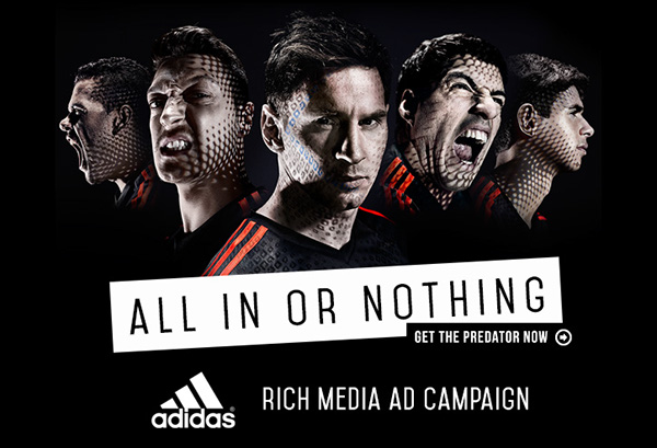 Adidas All In Or Nothing Rich Media Ad Campaign On Behance