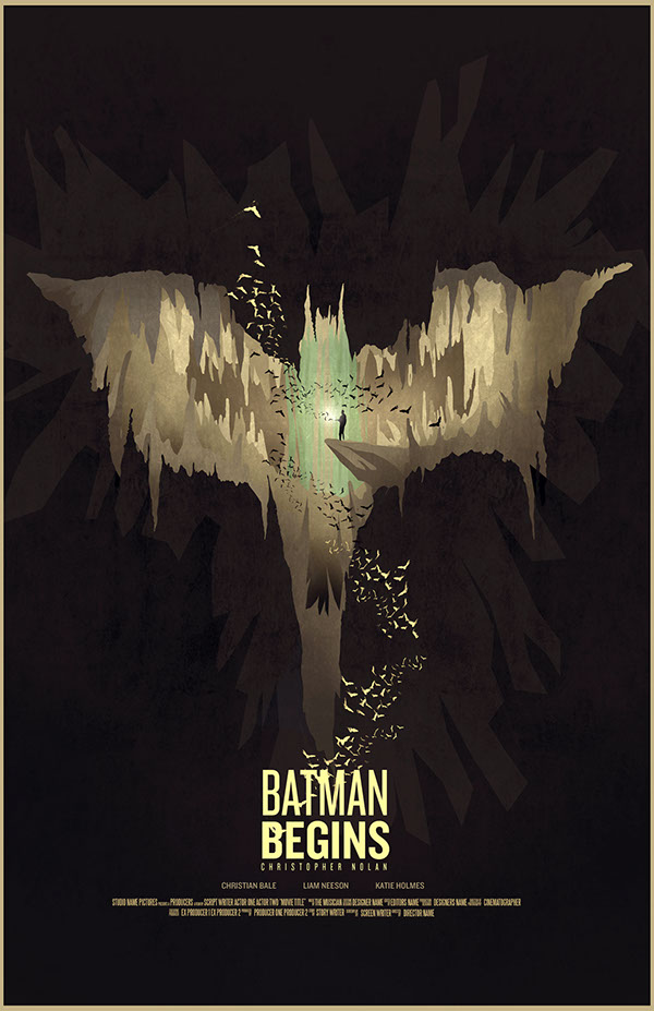 batman the dark knight movie poster minimalist afiche rises joker Bane scarecrow batcave digital batman
