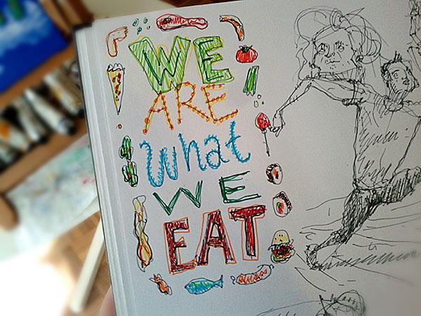 gatotonto jorge tabanera  ilustración lettering burger Eating  meal Food