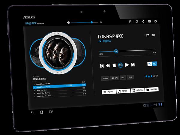 rage amp music player for android tablets on app design served. Black Bedroom Furniture Sets. Home Design Ideas