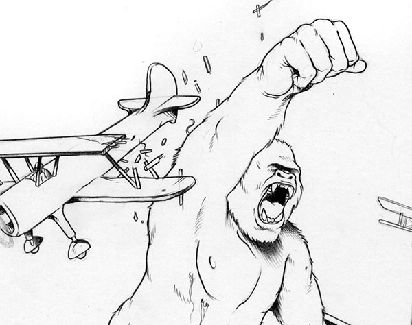 King Line Drawing King Kong on Behance