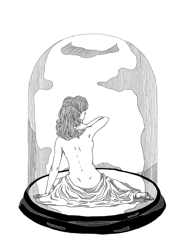 Bell Jar Drawing a Little Drawing Practice From